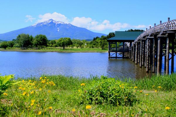 岩木山與津輕富士見湖